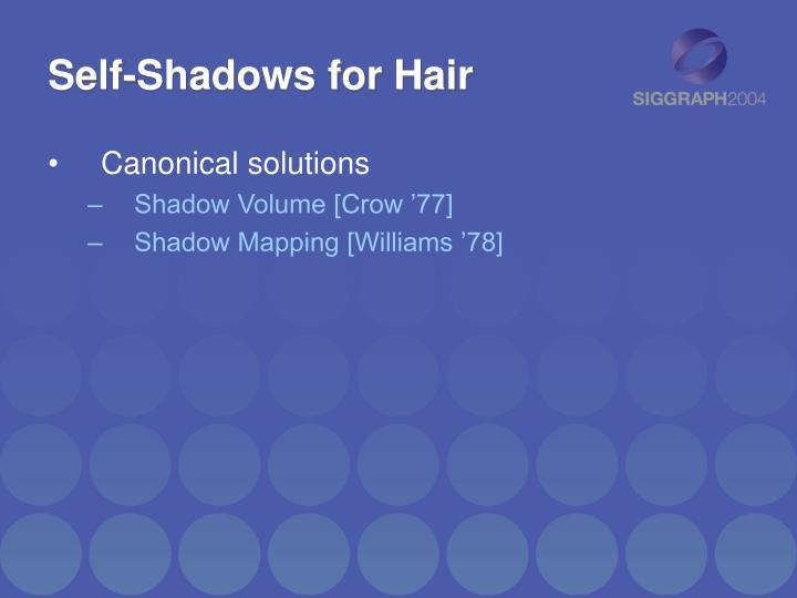 Self-Shadows for Hair