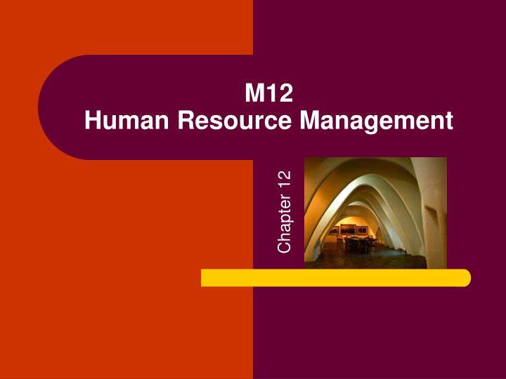 M12 human resource management