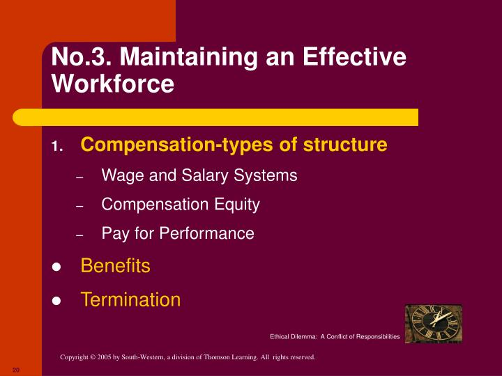 No.3. Maintaining an Effective Workforce