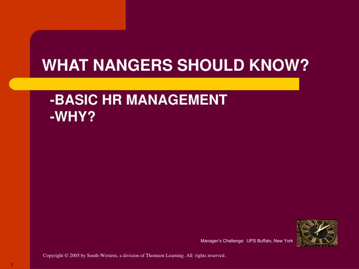 WHAT NANGERS SHOULD KNOW?
