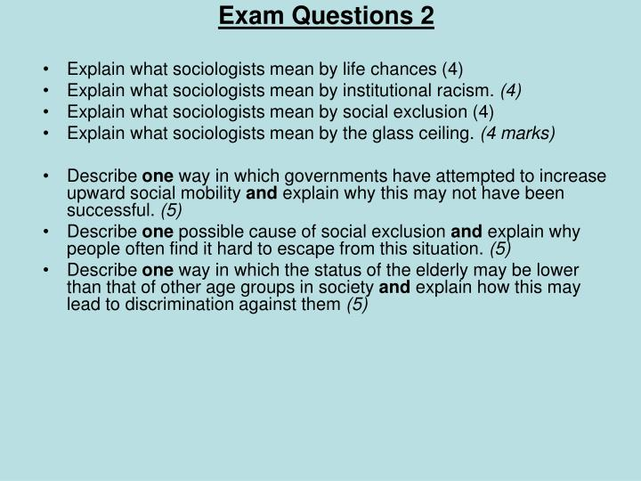 Exam Questions 2