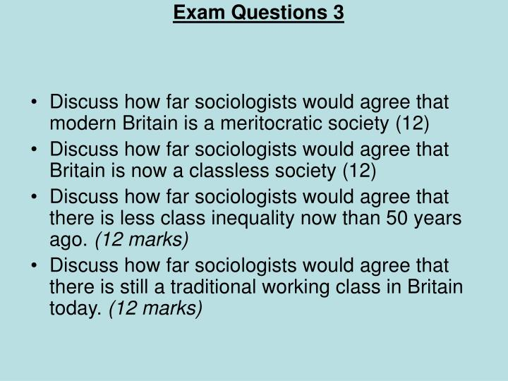 Exam Questions 3