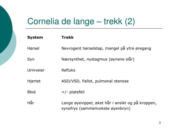 Cornelia de lange – trekk (2)