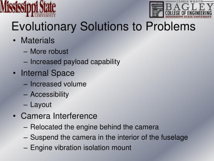 Evolutionary Solutions to Problems