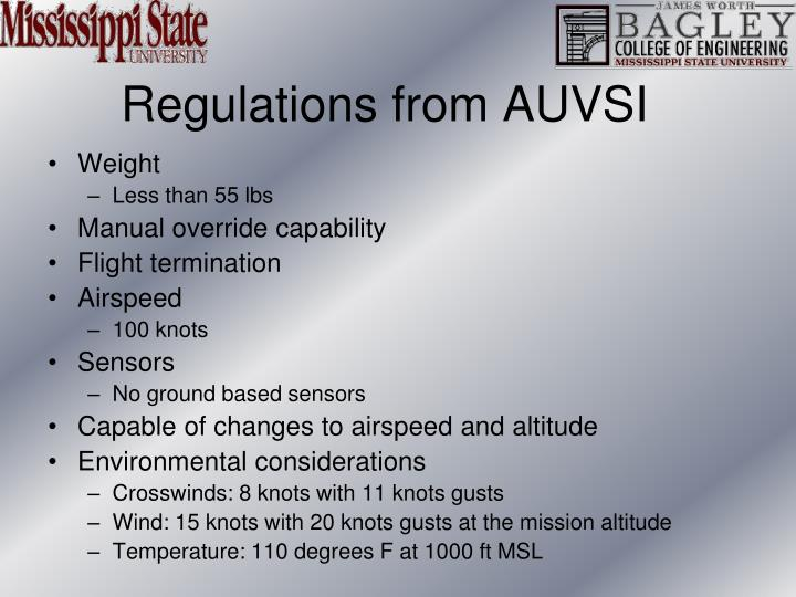 Regulations from AUVSI