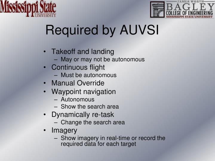 Required by AUVSI