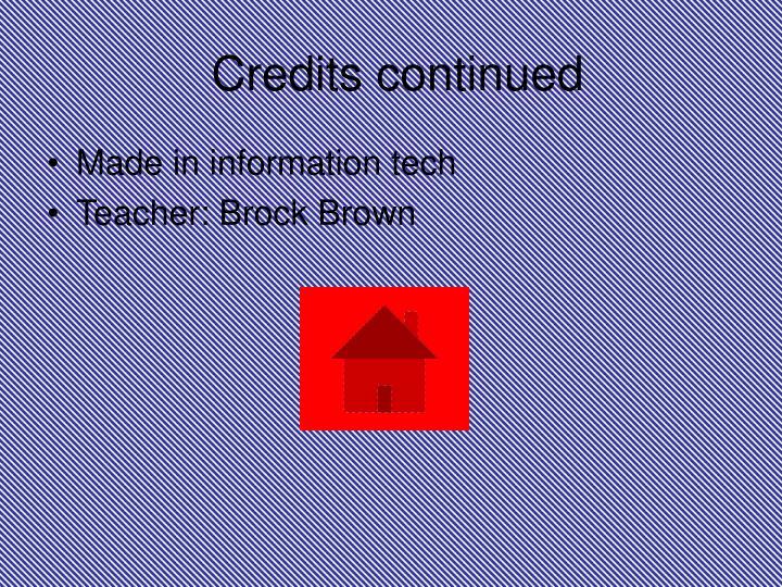 Credits continued