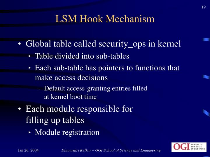 LSM Hook Mechanism