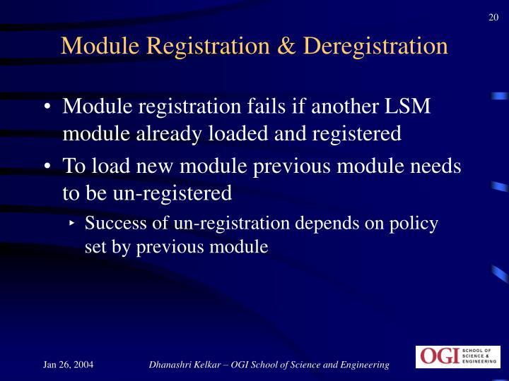Module Registration & Deregistration