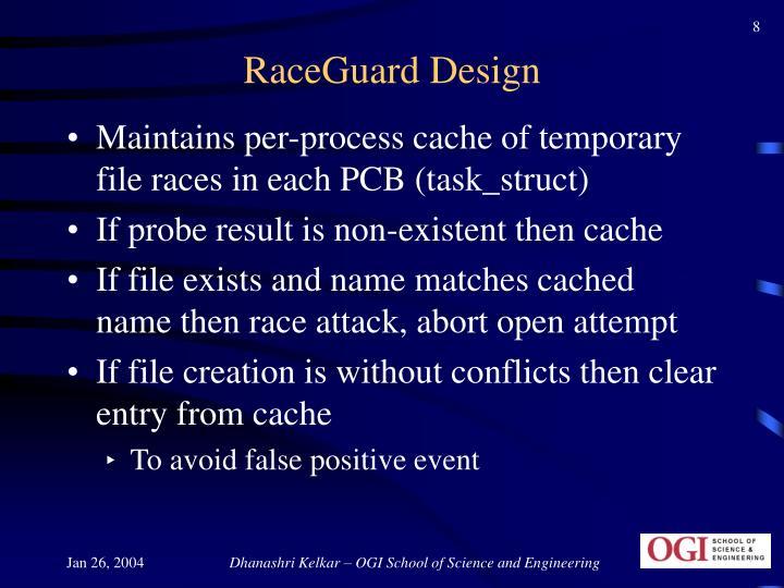 RaceGuard Design