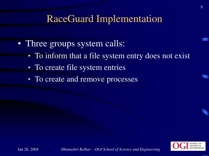 RaceGuard Implementation