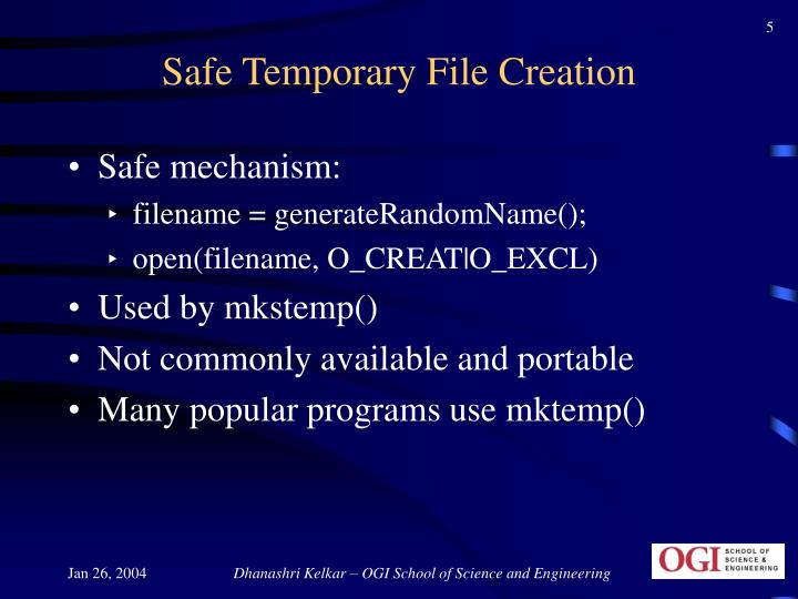 Safe Temporary File Creation