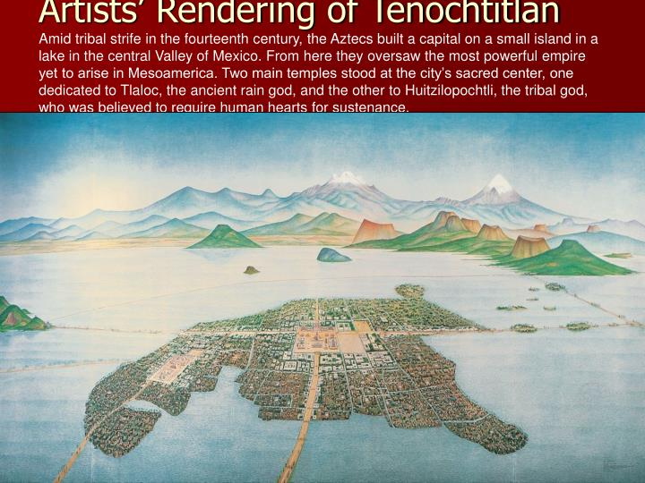 Artists' Rendering of Tenochtitlán
