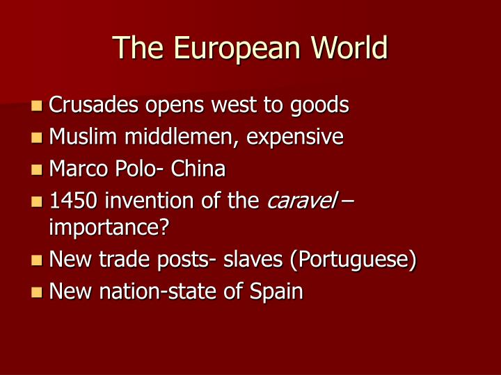 The European World