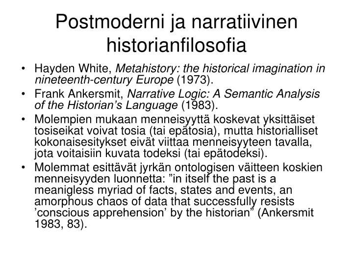 Postmoderni ja narratiivinen historianfilosofia
