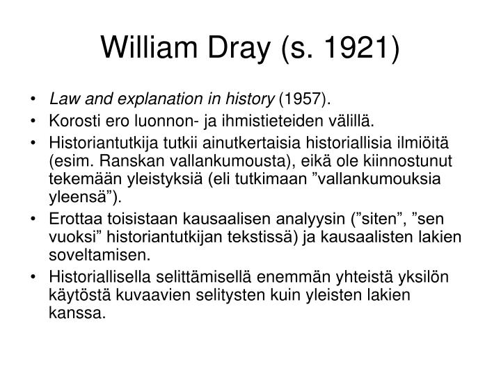 William Dray (s. 1921)