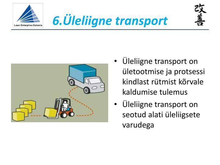 6.Üleliigne transport