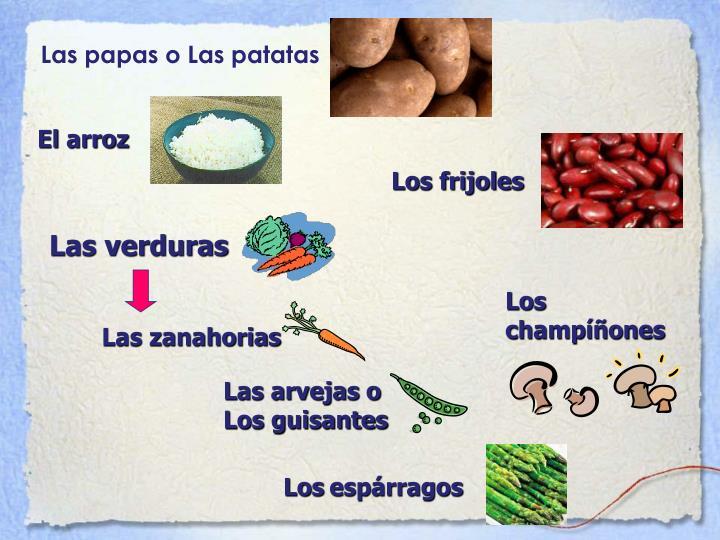Las papas o Las patatas