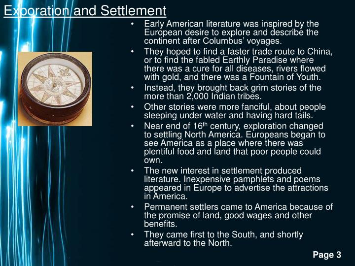 Exporation and Settlement