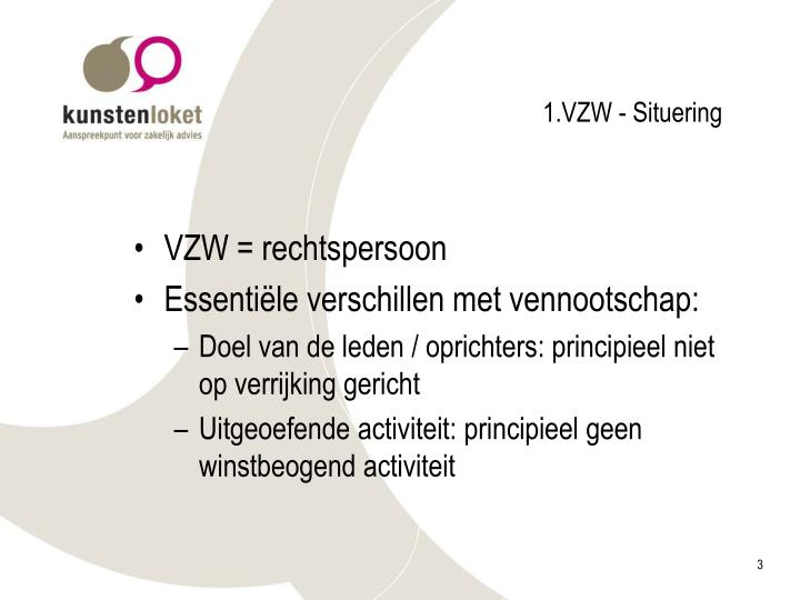 1.VZW - Situering