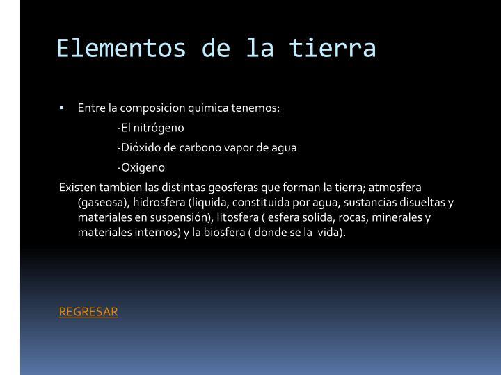 Elementos de la tierra