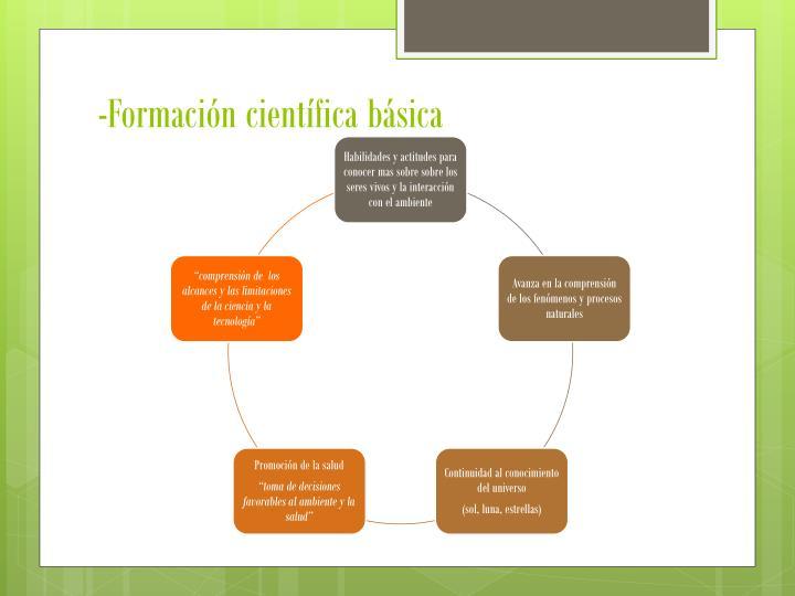 -Formación científica básica