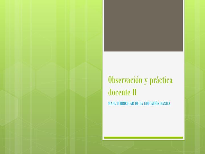 Observación y práctica docente
