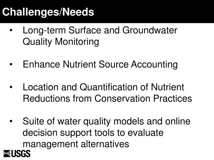 Challenges/Needs