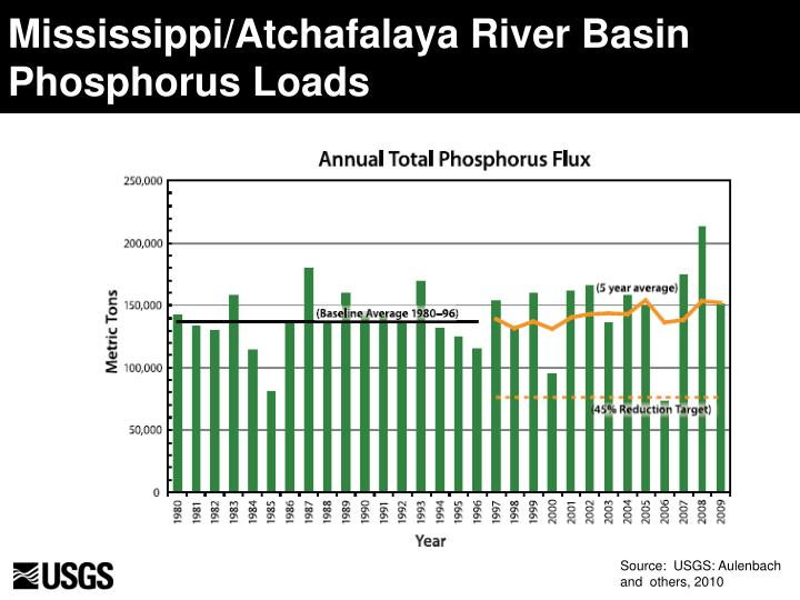 Mississippi/Atchafalaya River Basin Phosphorus Loads