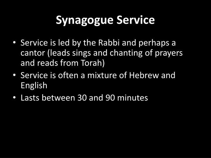 Synagogue Service