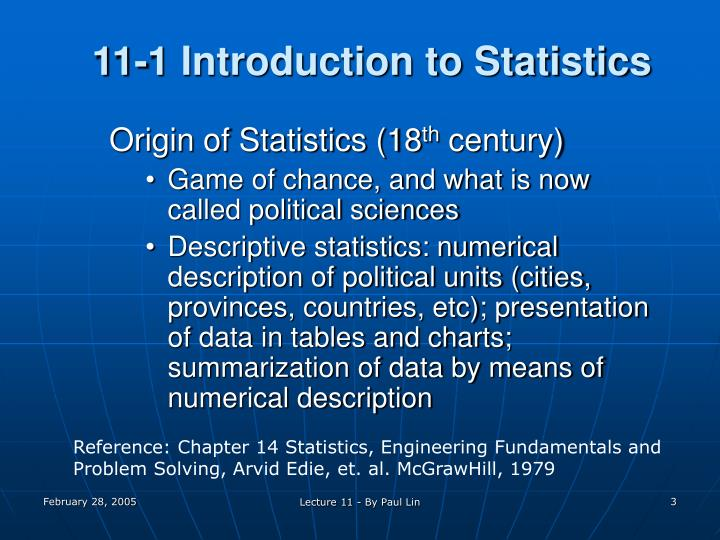 11 1 introduction to statistics