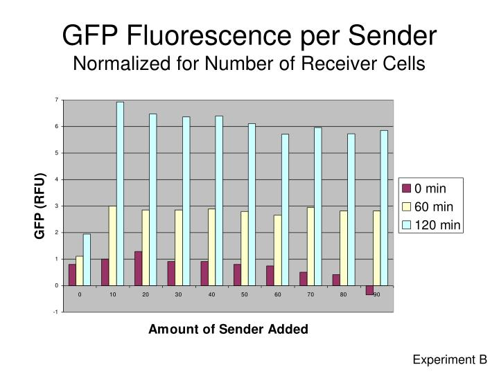 GFP Fluorescence per Sender