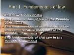 part 1 fundamentals of law