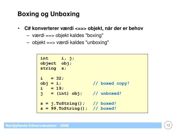 Boxing og Unboxing
