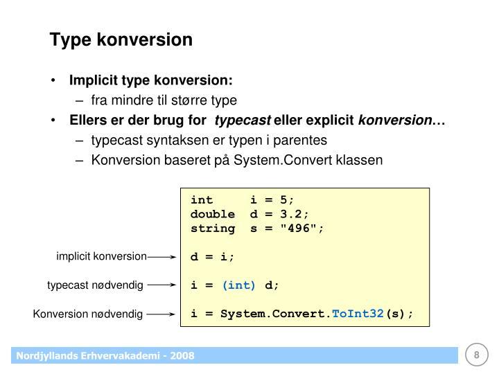Type konversion