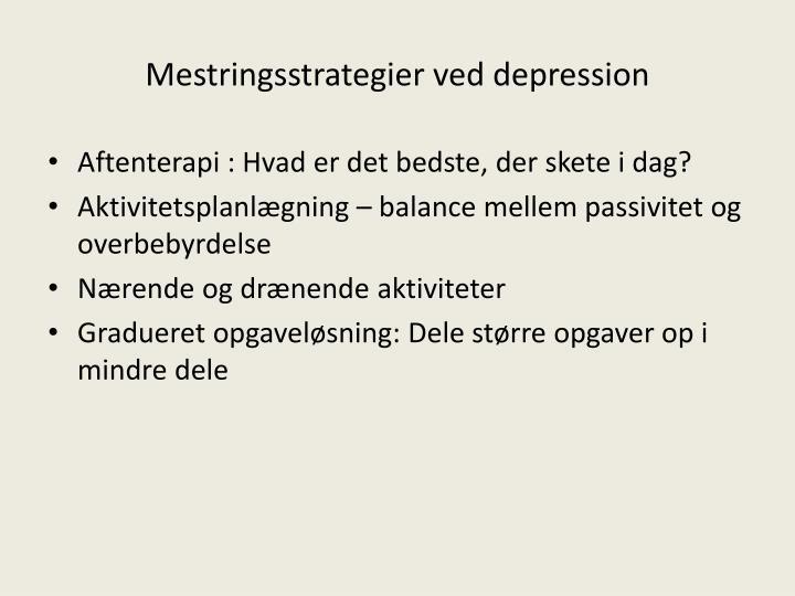 Mestringsstrategier ved depression