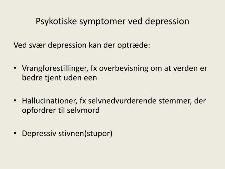 Psykotiske symptomer ved depression