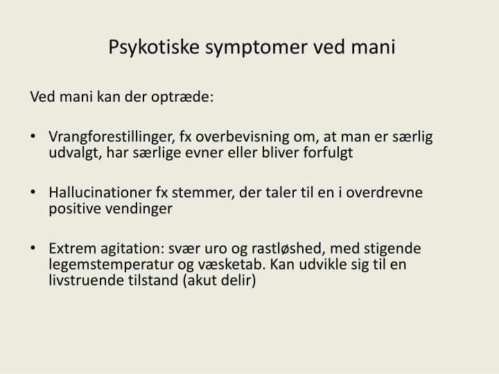 Psykotiske symptomer ved mani