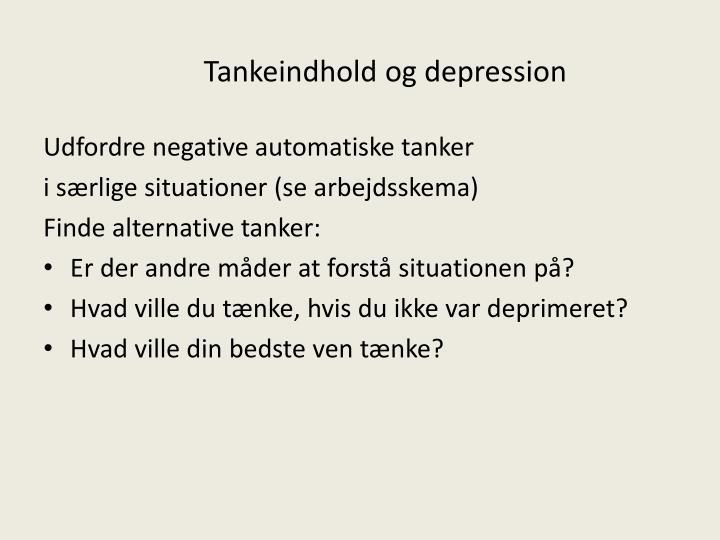 Tankeindhold og depression