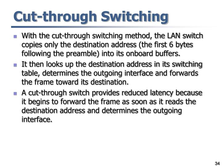 Cut-through Switching