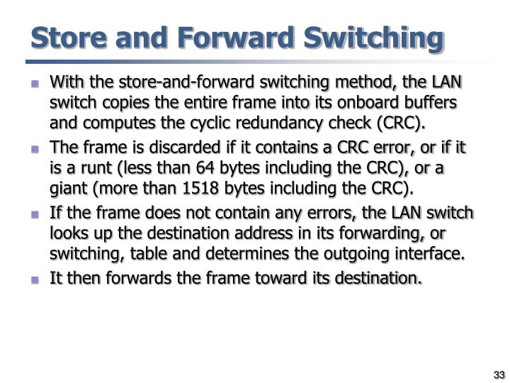 Store and Forward Switching