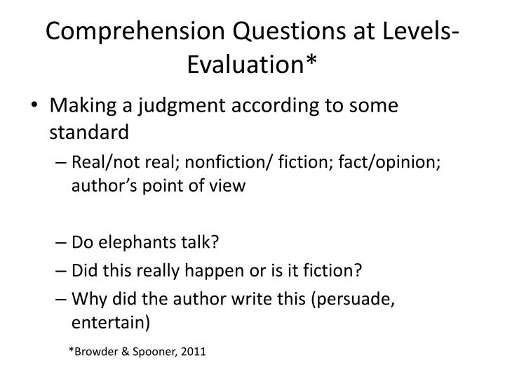 Comprehension Questions at