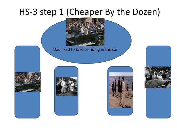 HS-3 step 1 (Cheaper By the Dozen)
