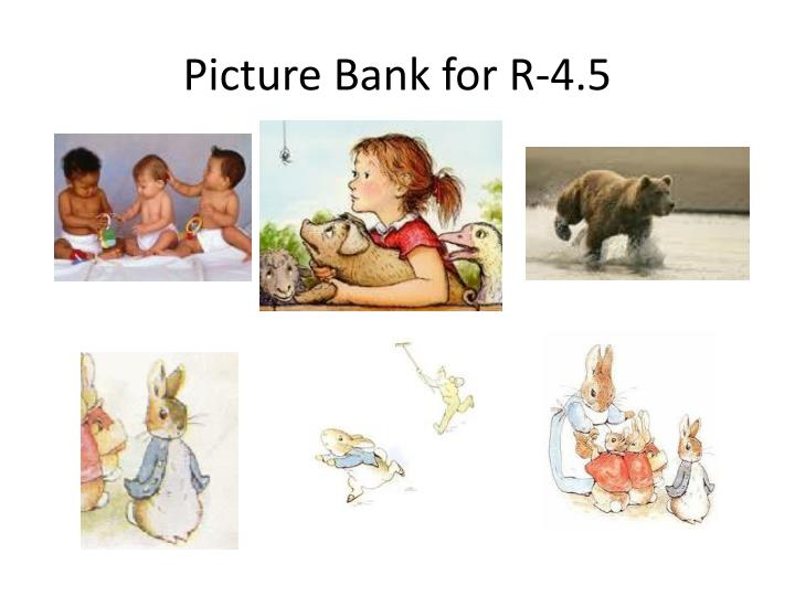 Picture Bank for R-4.5