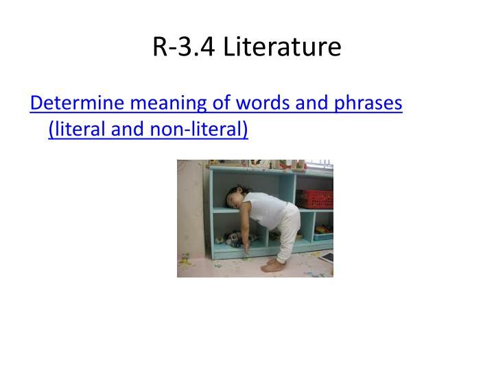 R-3.4 Literature