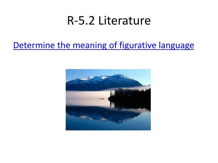 R-5.2 Literature