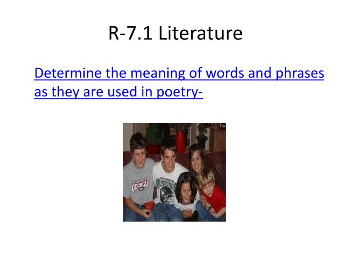 R-7.1 Literature