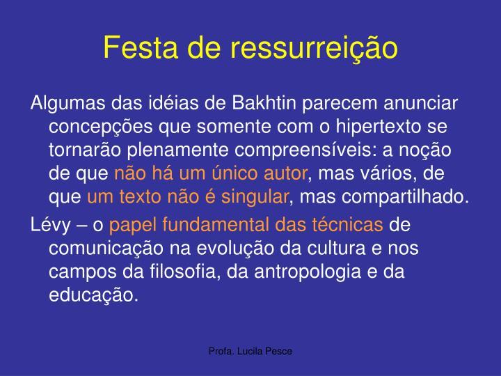 Festa de ressurreição