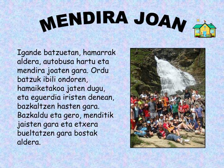 MENDIRA JOAN