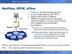 netflow ipfix sflow